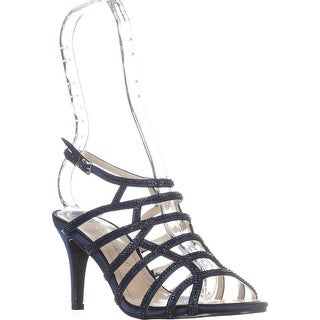 Caparros Harmonica Embellished Caged Evening Sandals, Navy