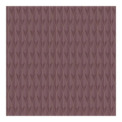 Padma Purple Geometric Texture Wallpaper - 20.9 x 396 x 0.025