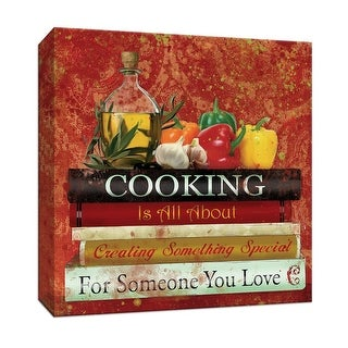 """PTM Images 9-146887  PTM Canvas Collection 12"""" x 12"""" - """"Cookbooks II"""" Giclee Sayings & Quotes Art Print on Canvas"""