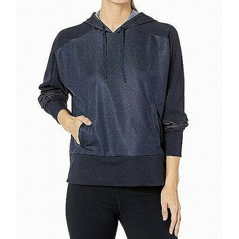 Nike Womens Hoodie Navy Blue Size Large L Drawstring Kangaroo Pocket
