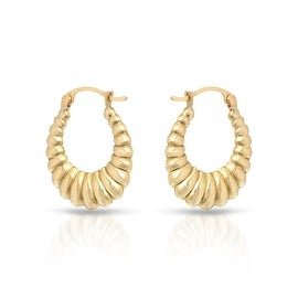 MCS JEWELRY INC 10 KARAT YELLOW GOLD CLASSIC SHRIMP HOOP EARRINGS (23MM)
