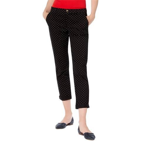 Tommy Hilfiger Womens Polka Dot Casual Chino Pants