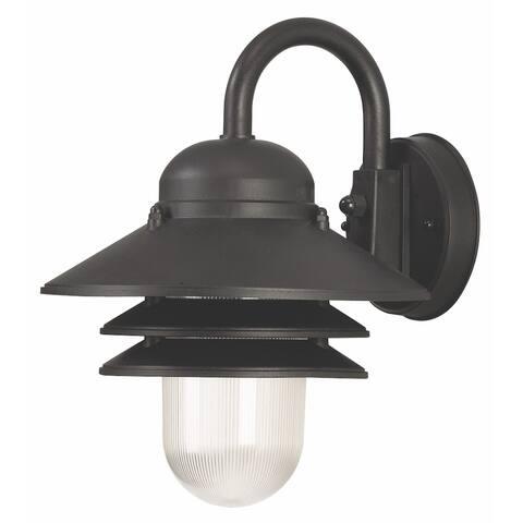 Nautical 1-light Black LED Wall Lantern