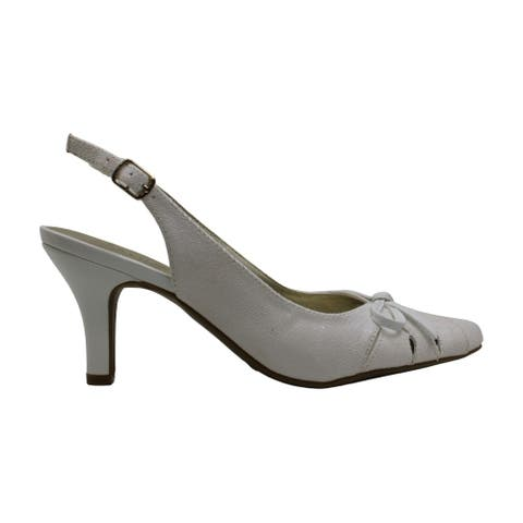 Karen Scott Womens Glenna Fabric Pointed Toe Casual Mule Sandals
