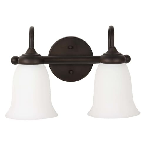 """Jeremiah Lighting 26102-WG Spencer 2 Light Bathroom Vanity Light - 14"""" Wide"""