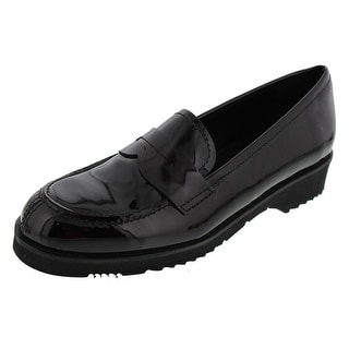 La Canadienne Womens Halle Patent Leather Penny Smoking Loafers - 6.5 medium (b,m)