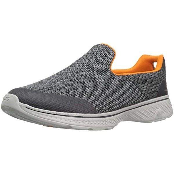 06e18d1964b Shop Skechers Performance Men's Go Walk 4 Expert Walking Shoe,Charcoal/Orange,10  M Us - Free Shipping Today - Overstock - 25632818