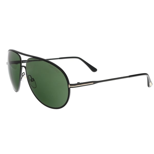 b3bcf676d9a81 Shop Tom Ford FT0450 02N CLIFF Matte Black Aviator Sunglasses - 61 ...