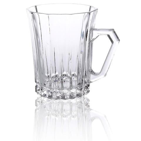 Bezrat Set of 6 Glass Coffee Cups