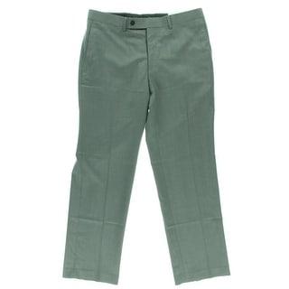Calvin Klein Mens Pindot Flat Front Dress Pants