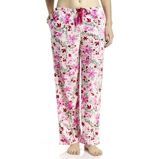 Hue Sleepwear Women's Flurry Floral Long Pajama Pants With Pockets