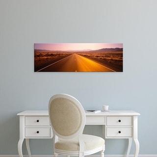 Easy Art Prints Panoramic Images's 'Desert Road, Nevada, USA' Premium Canvas Art