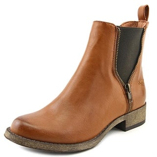 Rocket Dog Camilla Women Round Toe Leather Brown Ankle Boot