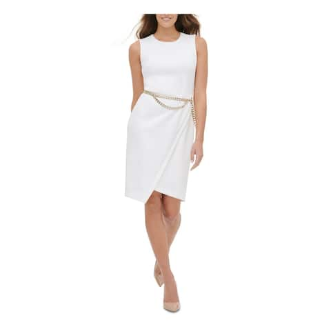 TOMMY HILFIGER White Sleeveless Above The Knee Dress 14