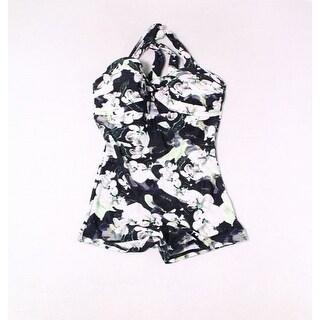 Unique Vintage Black Womens Size Small S Floral One-Piece Swimwear