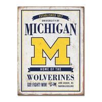University of Michigan Vintage Tin Sign