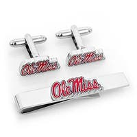 Cufflinks  University Rebels Cufflinks & Tie Bar Gift Set - Red