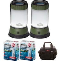 ThermaCELL Mosquito Repellent Outdoor/Camping Lanterns: 2-Pack + 4 Max Refills + Refill Case