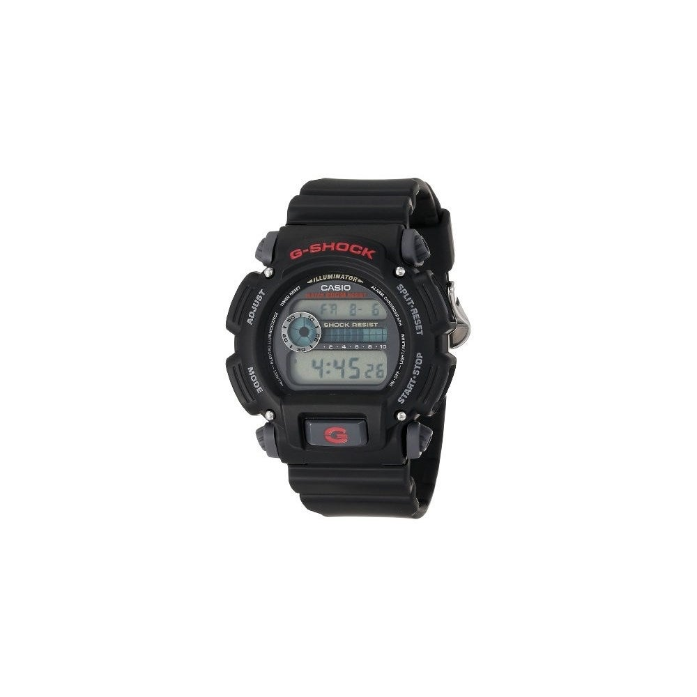 808dd7b4d Shop casio DW90521VCFB Casio Mens DW9052-1V G-Shock Black Stainless Steel  and Resin Digital Watch - Free Shipping Today - Overstock - 15146325