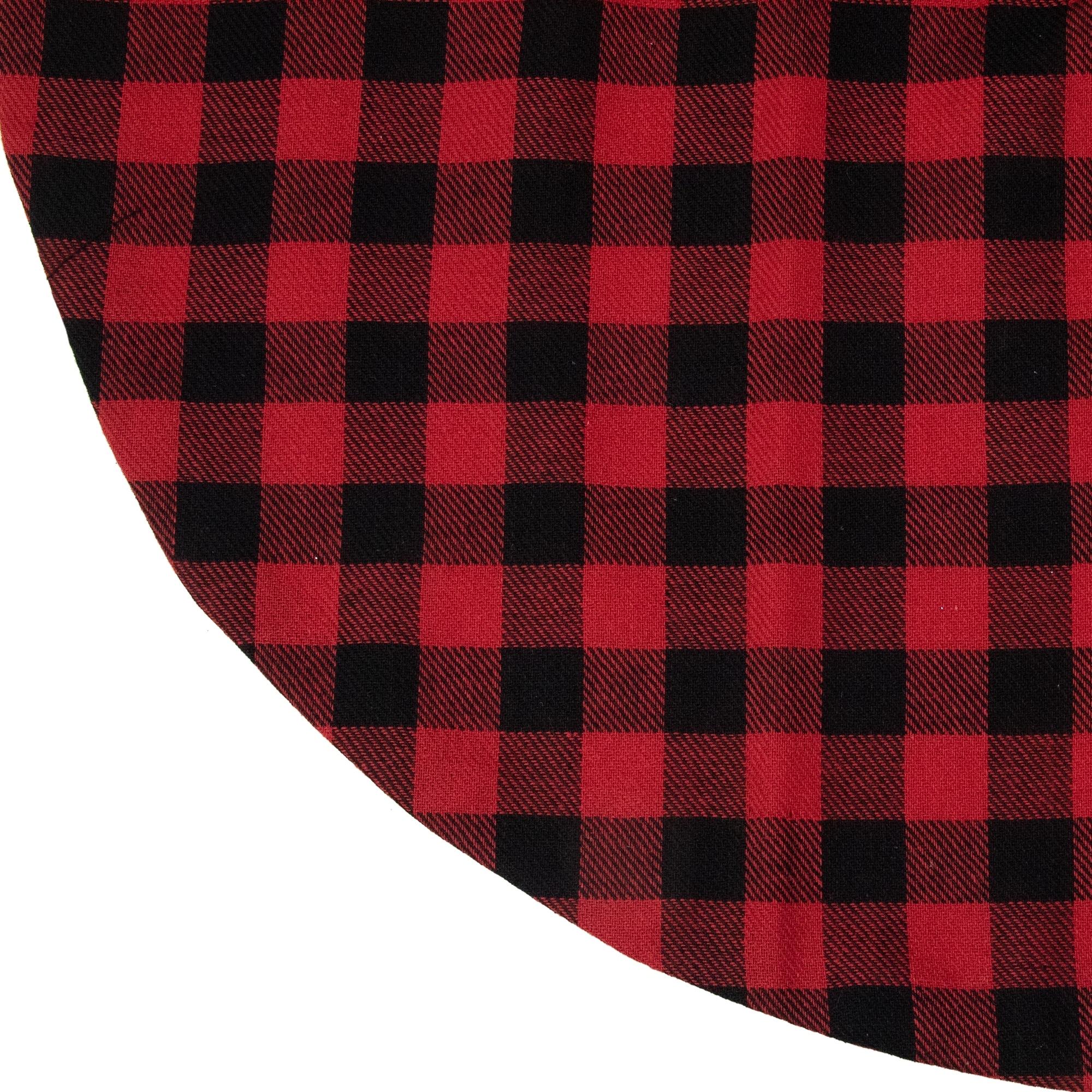 20 Red And Black Buffalo Plaid Mini Christmas Tree Skirt Overstock 30272516