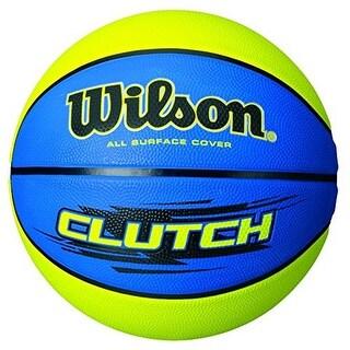 Wilson Cluth Basketbaall, Blue/Lime