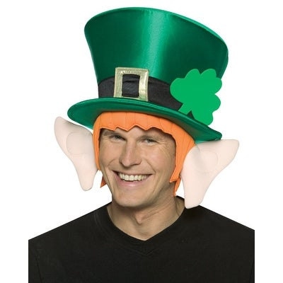 St Patrick's Day Leprechaun Top Hat With Ears - Green