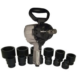 K Tool International KTI-81795 Drive Air Impact Wrench with SAE Socket Set, 1 in. - 13 Piece