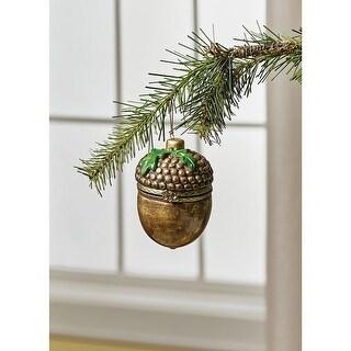 Christmas Decoration - Porcelain Surprise Ornaments Box - Acorn