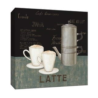 "PTM Images 9-151990  PTM Canvas Collection 12"" x 12"" - ""Latte"" Giclee Coffee, Tea & Espresso Textual Art Print on Canvas"