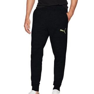 Puma NEW Black Mens Size Large L Wintech Fleece Trackster Pants