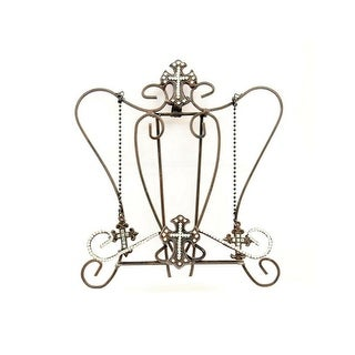 M&F Western Cook Book Holder Cross Crystal Accents Brown