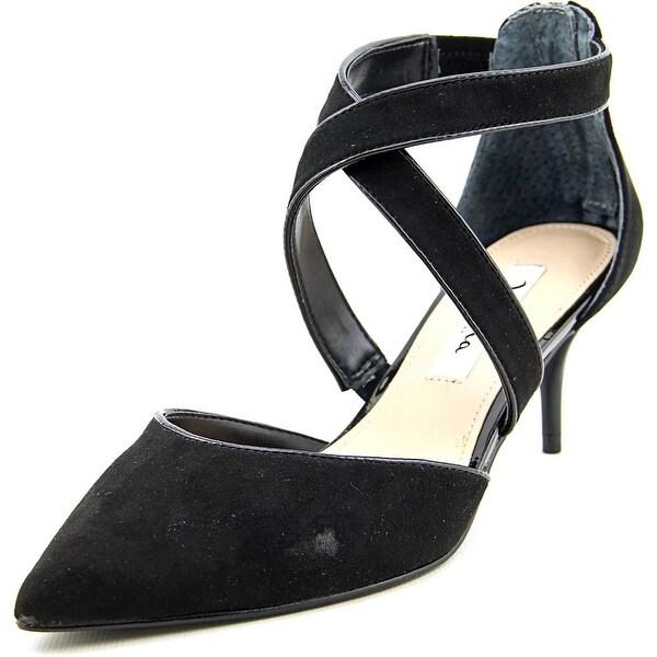 Nina Tessie Women Pointed Toe Suede Black Heels