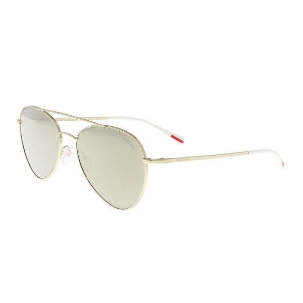 0a2f69cb6034 Shop Prada PS 50SS ZVN1C0 Pale Gold Aviator Sunglasses - 57-17-140 ...