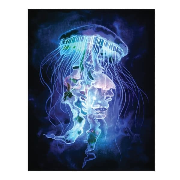 Led Light Up Jellyfish Picture Canvas Wall Art 15 75 X 19 75 Multicolor 15 75 In X 1 5 In X 19 75 In Overstock 18285078