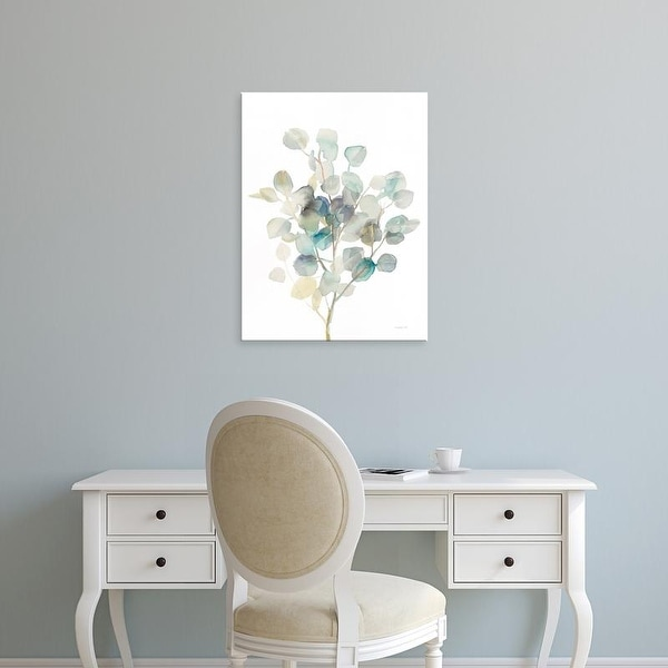 Easy Art Prints Danhui Nai's 'Eucalyptus III White' Premium Canvas Art