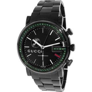 Gucci Men's G-Chrono YA101349 Black Stainless-Steel Swiss Quartz Fashion Watch