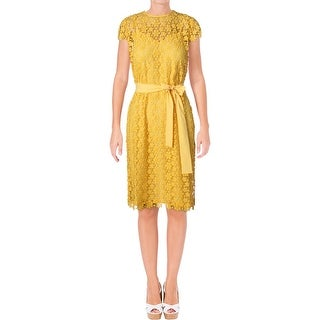 Juicy Couture Black Label Womens Lydia Party Dress Lace Knee-Length