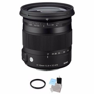 Sigma 17-70mm f/2.8-4 Lens for Canon Lens Bundle