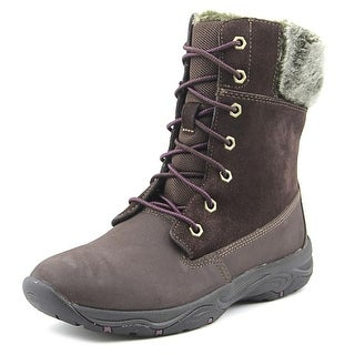 Easy Spirit Penzance Women Round Toe Leather Brown Ankle Boot