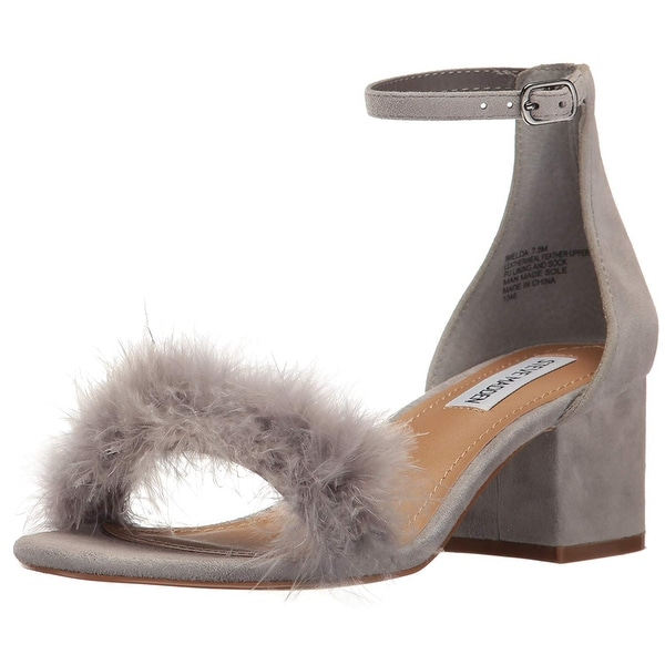 Steve Madden Womens Imelda Leather Open Toe Special Occasion Ankle Strap Sand...