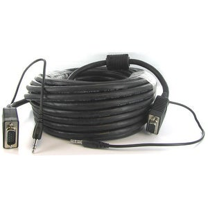 VGA Cable with 3.5mm Audio, 10 ft.