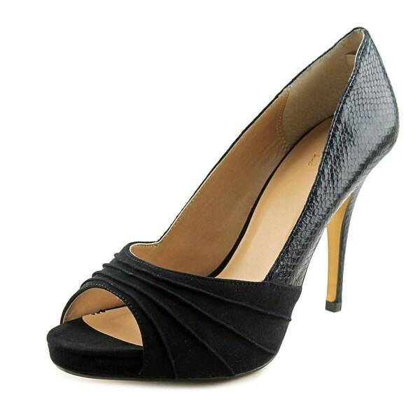 Thalia Sodi Marissa Open Toe Suede Platform Heel