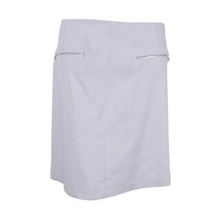 Alfani Women's Plus Size Pull-On A-Line Skirt (24W, New City Silver)