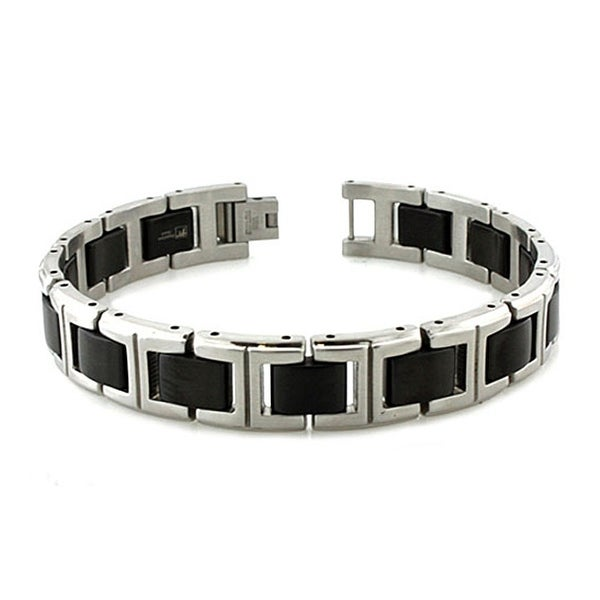 Fine Jewelry Mens 8.25 Inch Stainless Steel Link Bracelet tPYmVNH9
