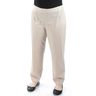 ST JOHN $495 Womens New 1882 Beige Straight Leg Wear To Work Pants 16 B+B
