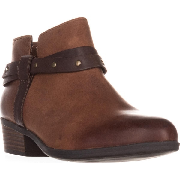 Clarks Addiy Zoie Casual Ankle Boots, Tan Leather