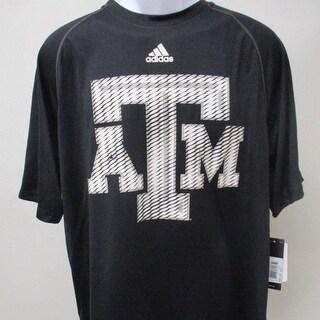 Texas A M Aggies Mens Size L XL Adidas Black Shirt 30