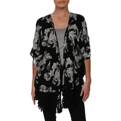 Roxy Womens Desert Oasis Kimono Floral Open-Front - XS/S