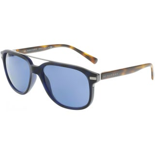 Burberry Men's BE4233-362180-57 Black Aviator Sunglasses
