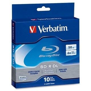 """Verbatim 97335 Verbatim BD-R DL 50GB 6X with Branded Surface - 10pk Spindle Box - 50GB - 10pk Spindle Box"""